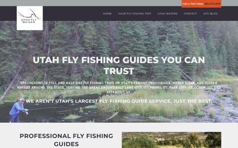 Screenshot of Home Page utflyfishing.com - Most Trusted Utah Fly Fishing Guides - Utah Fly Guides - captured Oct. 19, 2018