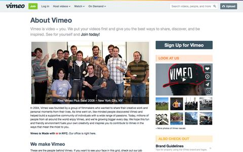 About Us | What is Vimeo?
