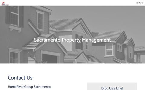 Screenshot of Contact Page homepointe.com - Contact Us | HomeRiver Group Sacramento - captured May 22, 2018
