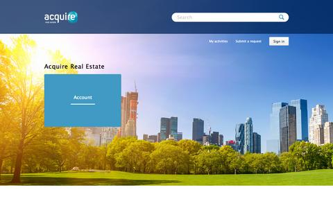Screenshot of Support Page zendesk.com - Acquire Real Estate - captured Sept. 15, 2015