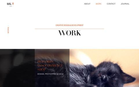 Screenshot of Developers Page 3oneseven.com - Work | milo 3oneseven - captured Nov. 15, 2018