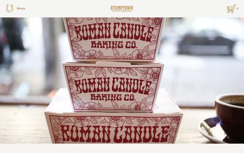 Screenshot of Blog stumptowncoffee.com - Roman Candle x Stumptown | Stumptown Coffee Roasters Blog - captured Nov. 17, 2015