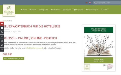 Screenshot of Press Page greenline-hotels.de - News und Pressemitteilungen der GreenLine Hotels - captured Sept. 30, 2018