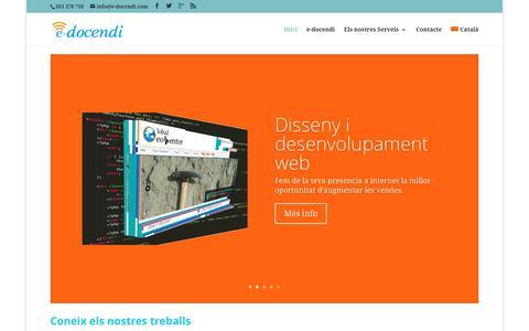 Screenshot of Home Page e-docendi.com - e-docendi consultoria TIC i disseny web - captured Dec. 14, 2015