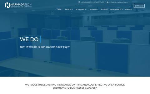 Screenshot of Services Page narmadatech.com - Web Development Services - captured June 11, 2017
