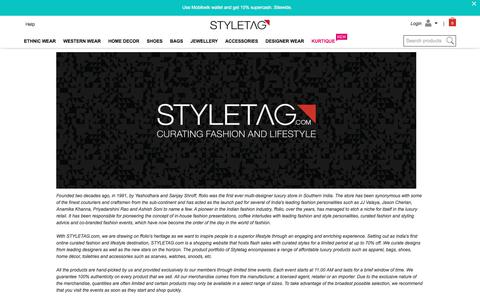 Screenshot of About Page styletag.com - Online Shopping Discounts On Designer Dresses For Women | Buy Handbags, Footwear, Accessories & More - Styletag - captured June 20, 2017