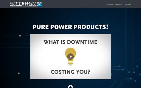 Screenshot of Products Page stediwatt.com - Products - StediWatt - captured Oct. 2, 2018
