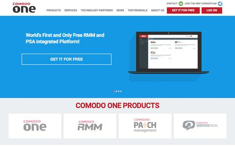 Screenshot of Signup Page comodo.com - Free RMM and IT Automation Management | Comodo Remote Monitoring - captured Dec. 10, 2015