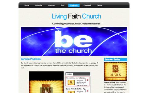 Screenshot of Press Page livingfaithmillbrook.com - Living Faith Church - captured Oct. 3, 2014