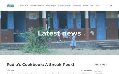 Screenshot of Press Page helpingchildrenworldwide.org - Helping Children Worldwide - HCW Blog - captured July 18, 2018