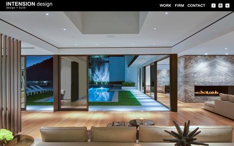 Screenshot of Home Page intensiondesign.com - INTENSION DESIGN | Los Angeles | Design Build • Architecture • Construction • Design • Modern - captured Jan. 21, 2015