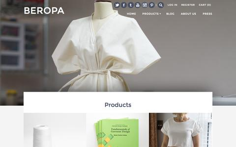 Screenshot of Products Page beropa.co - Products – BEROPA - captured Nov. 3, 2014