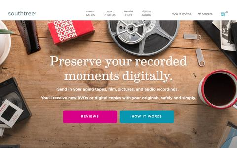 Screenshot of Pricing Page southtree.com - Southtree | Convert Home Movies to DVD - captured Jan. 4, 2019