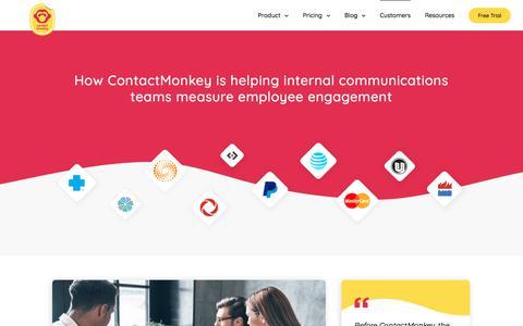 Screenshot of Case Studies Page contactmonkey.com - How Internal Communicators measure Employee Engagement - captured Nov. 15, 2019