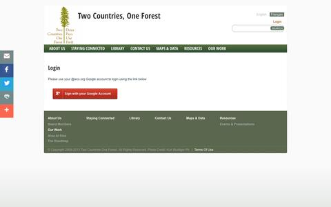 Screenshot of Login Page 2c1forest.org - Login - captured May 14, 2016