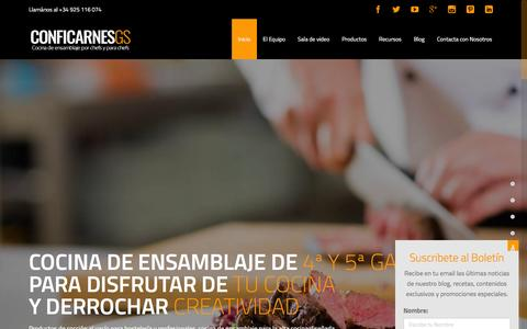 Screenshot of Home Page conficarnes.com - Cocina de Ensamblaje | ConfiCarnes GS - captured Dec. 10, 2015