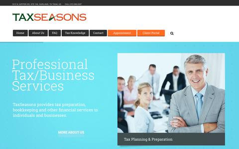 Screenshot of Home Page taxseasons.pro - TaxSeasons – TaxSeasons Website - captured Oct. 23, 2017