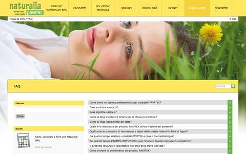Screenshot of FAQ Page naturalia-bau.it - FAQ - Naturalia BAU - captured Feb. 13, 2016