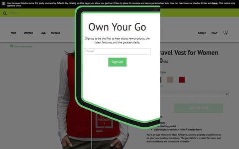 Women's RFID Travel Vest - SCOTTeVEST