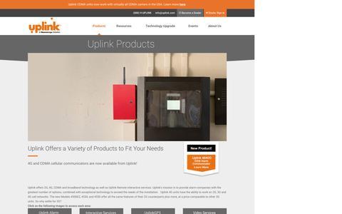 Screenshot of Products Page uplink.com - Products | Uplink - captured Dec. 2, 2016