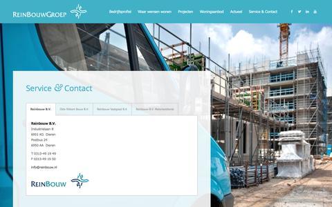 Screenshot of Contact Page reinbouw.nl - Service & Contact | Reinbouw - captured Feb. 16, 2016