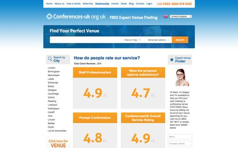 Screenshot of Testimonials Page conferences-uk.org.uk - Testimonials | Conference Venues UK | Conference Venues in London - captured May 20, 2017