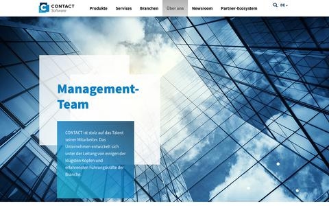Screenshot of Team Page contact-software.com - Management - CONTACT Software - captured July 9, 2017