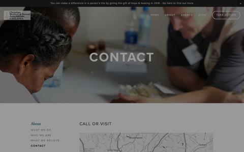 Screenshot of Contact Page cmdaatlanta.org - Contact — CMDA Atlanta - captured Jan. 28, 2016