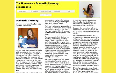 Screenshot of Home Page jjn-homecare.co.uk - JJN Homecare - Domestic Cleaning - captured May 27, 2017