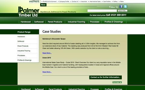 Screenshot of Case Studies Page palmertimber.com - Case Studies -  Palmer Timber - captured Oct. 2, 2014