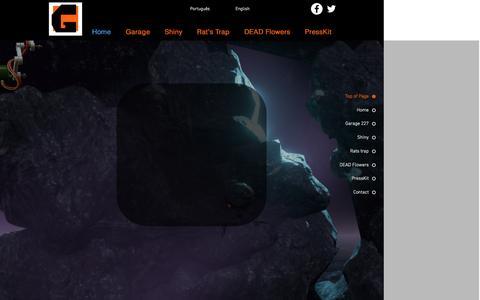 Screenshot of Home Page garage227studios.com - garagesite - captured Dec. 7, 2015