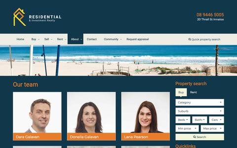 Screenshot of About Page Team Page residentialrealty.com.au - Residential Realty & Investment - Our Team - captured Oct. 18, 2018