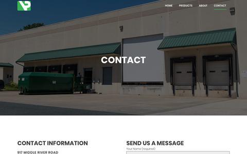 Screenshot of Contact Page vacpacinc.com - Contact | Vac Pac - captured Oct. 18, 2017
