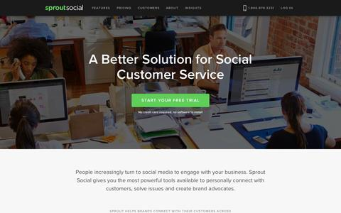 Screenshot of Support Page sproutsocial.com - Social Media Customer Service & Care Software | Sprout Social - captured Nov. 18, 2015
