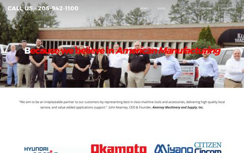 Screenshot of About Page kearneymachinery.com - About - CALL US - 205-942-1100 - captured Oct. 17, 2017