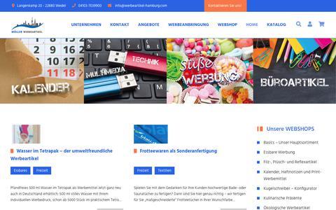 Screenshot of Blog werbeartikel-hamburg.com - Home   Werbeartikel Hamburg - captured Sept. 27, 2018