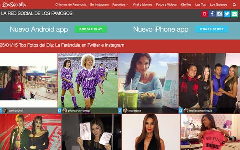 Screenshot of Home Page lassociales.co - LasSociales.co Chismes de farandula y famosos en instagram - captured Jan. 25, 2015