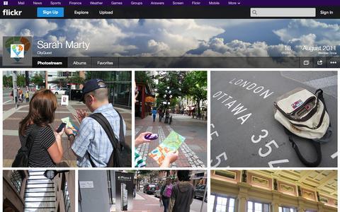 Screenshot of Flickr Page flickr.com - Flickr: CityQuest's Photostream - captured Oct. 22, 2014