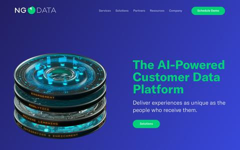 Screenshot of Home Page Team Page ngdata.com - Customer Data Platform (CDP): Listen. Learn. Execute – NGDATA - captured March 29, 2018