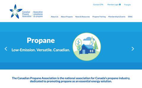 Screenshot of Home Page propane.ca - Propane Homepage - Canadian Propane Association - captured July 12, 2017