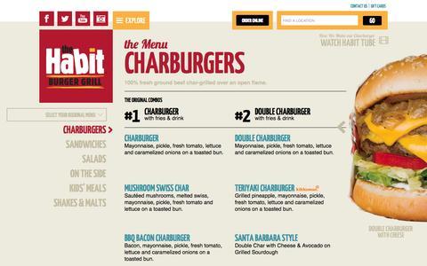 Screenshot of Menu Page habitburger.com - the Menu Charburgers | Habit Burger - captured Oct. 26, 2014
