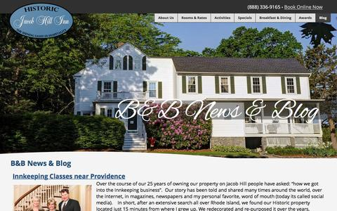 Screenshot of Blog inn-providence-ri.com - Blog - Historic Jacob Hill Inn » Providence, RI's Top Anniversary & Romantic Getaway Destination - captured June 23, 2016