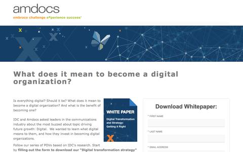Amdocs Digital Transformation - Digital Services