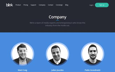 Screenshot of Team Page blink.la - Company - Blink - captured Dec. 6, 2016