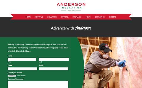 Screenshot of Jobs Page andersoninsul.com - Careers - Anderson Insulation - captured Oct. 8, 2017