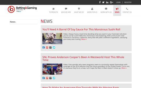 Screenshot of Press Page bgrecruitment.com - News   Betting Gaming Recruitment - captured Nov. 22, 2016