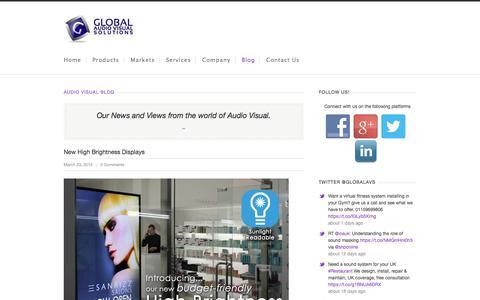 Screenshot of Blog globalavs.co.uk - The Global Audio Visual Blog - captured Jan. 30, 2016