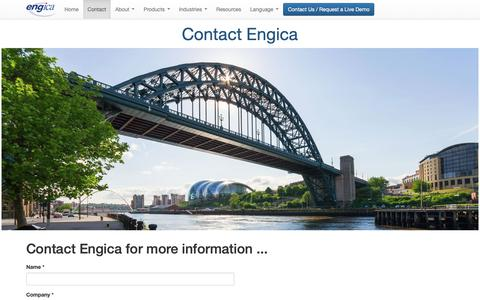 Screenshot of Contact Page engica.com - Engica: Contact us - captured Sept. 28, 2018