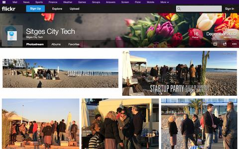 Screenshot of Flickr Page flickr.com - Flickr: Sitges City Tech's Photostream - captured Oct. 26, 2014