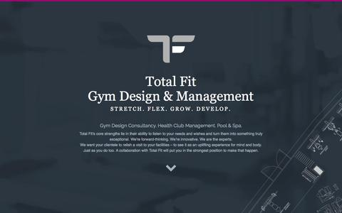 Screenshot of Home Page totalfit.co.uk - Total Fit Gym Design and Gym Management in London - captured Aug. 14, 2015